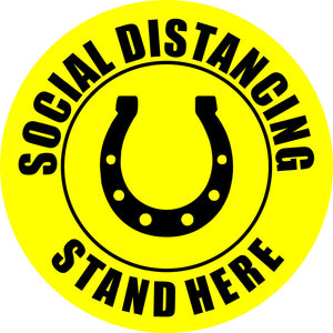 Social Distancing Floor Horseshoe Vinyl Decal Stand Here Sticker