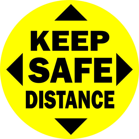 Social Distancing Floor Vinyl Decal Keep Safe Distance Sticker