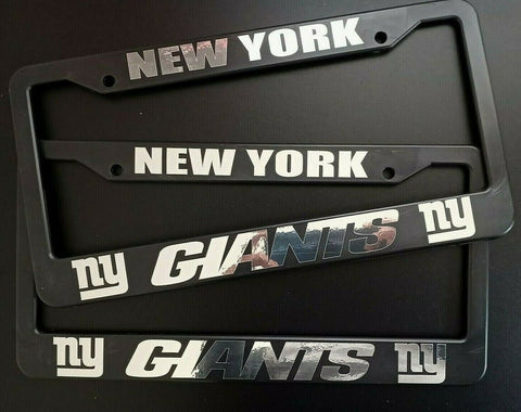 - SET of 2 - New York Giants Plastic License Plate Frames