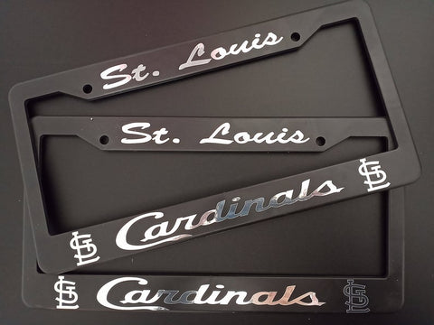 - SET of 2 - St. Louis Cardinals Plastic License Plate Frames