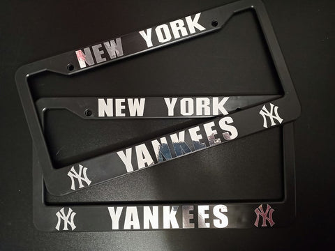 - SET of 2 - New York Yankees Plastic License Plate Frames