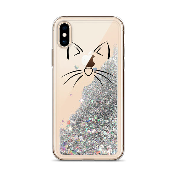 Cat Liquid Glitter Phone Case