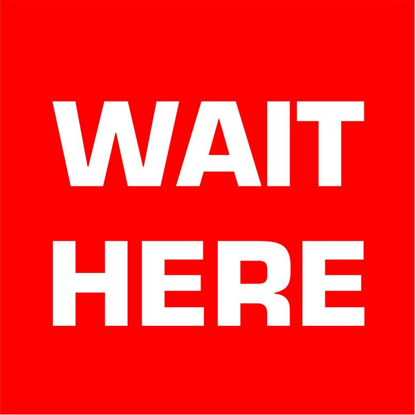 Social Distancing Floor Vinyl Decal Square Wait Here Sticker