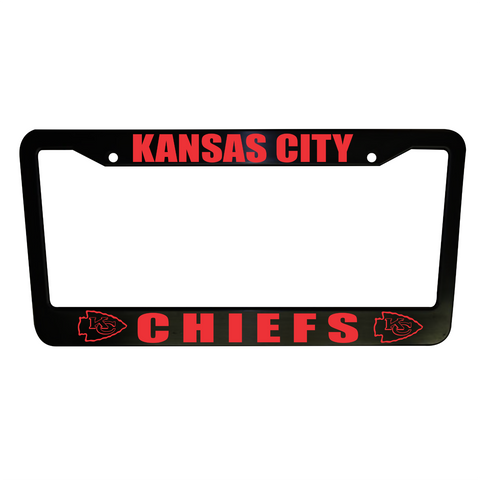 SET of 2 - Kansas City Chiefs Plastic License Plate Frames