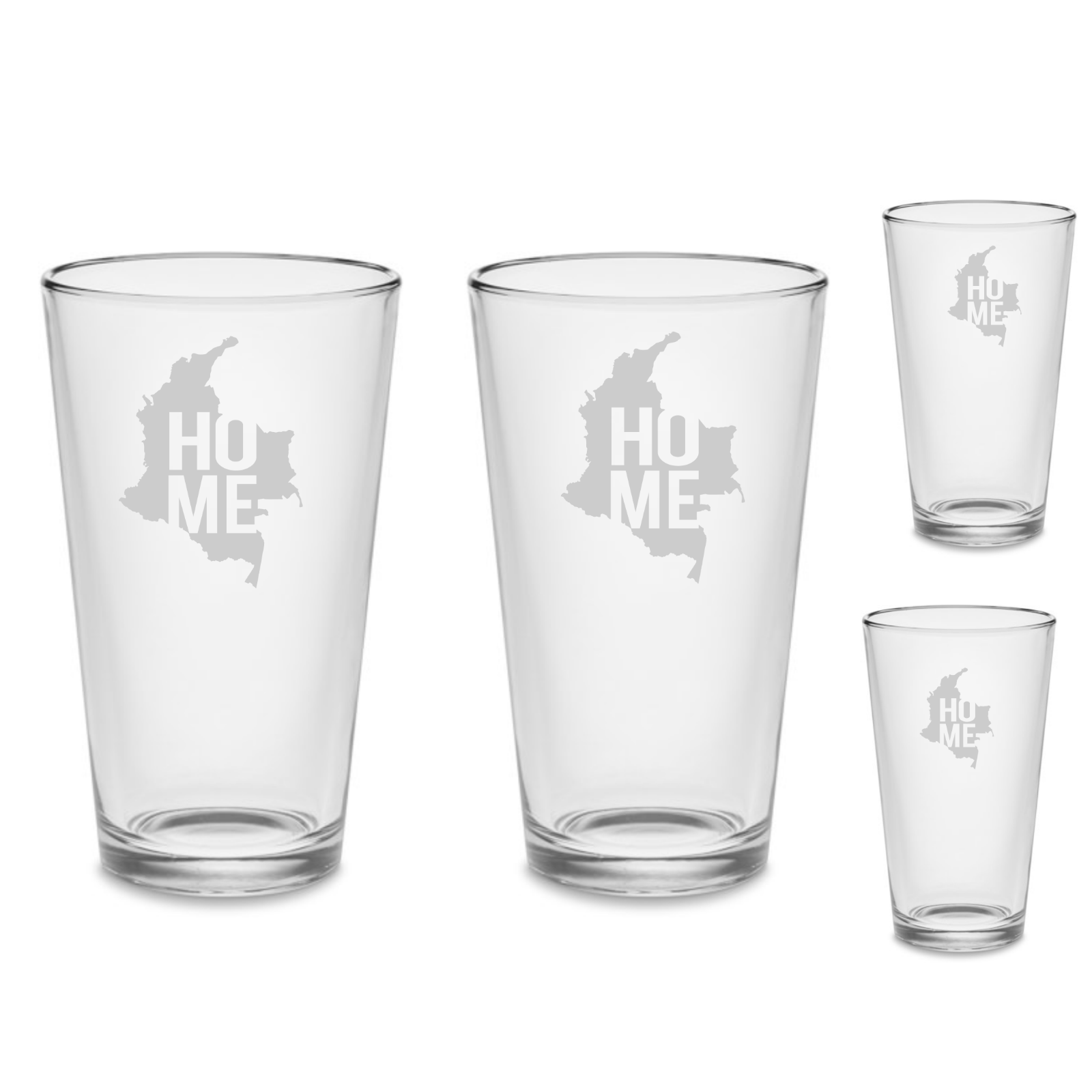 SET Colombia HOME Custom Pint Beer Glasses 16 oz