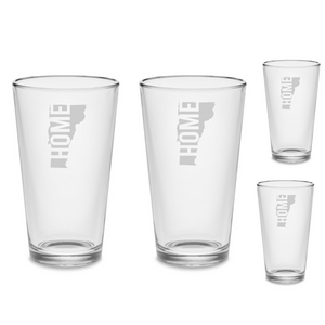 SET Vermont VT HOME Custom Pint Beer Glasses 16 oz