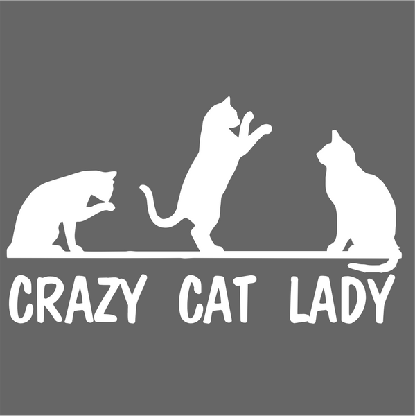 Crazy Cat Lady Vinyl Decal Sticker