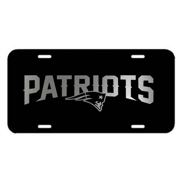 New England Patriots Plastic License Plate