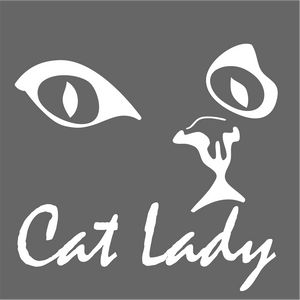 Cat Lady Vinyl Decal Sticker