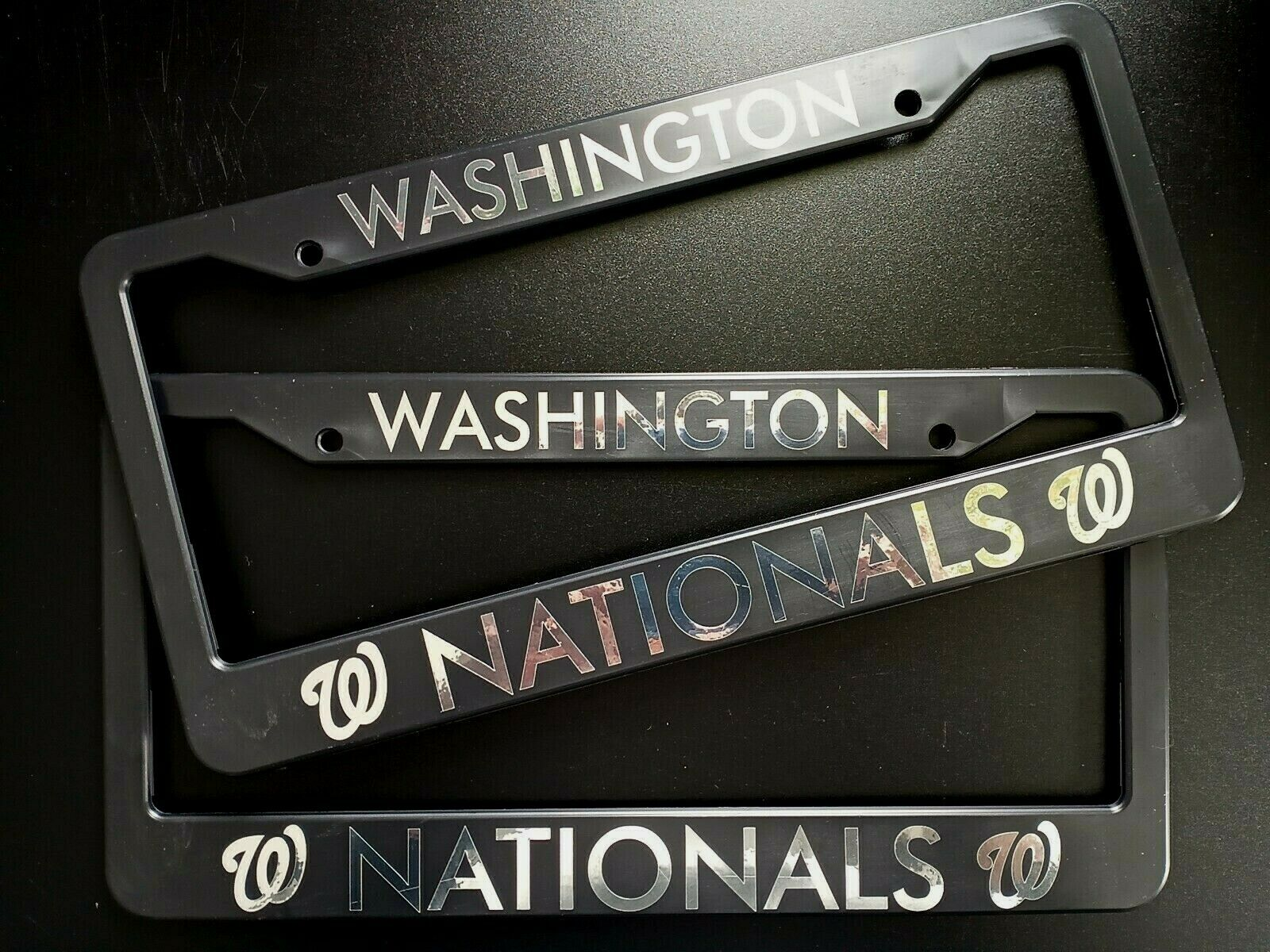 - SET of 2 - Washington Nationals Plastic License Plate Frames