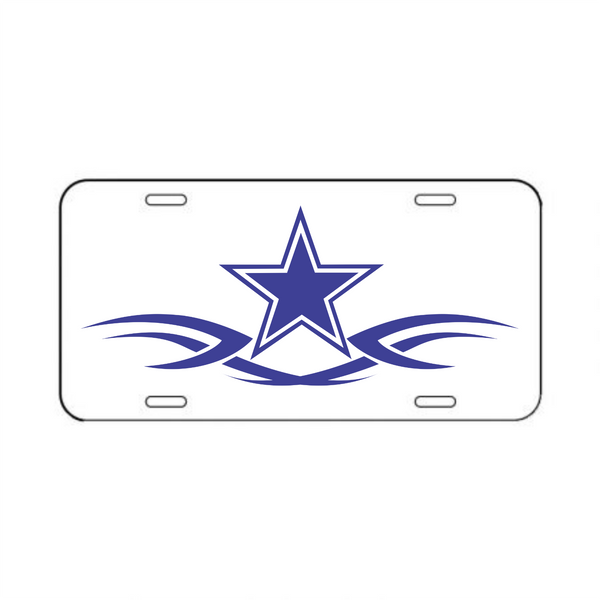Dallas Cowboys Plastic License Plate