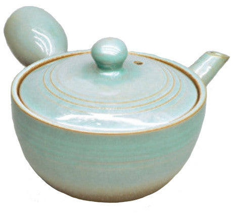 Jade Green Teapot with Glazed finish