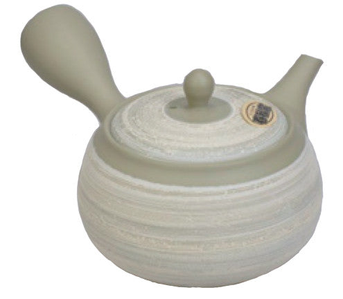 Light grey- green layered teapot