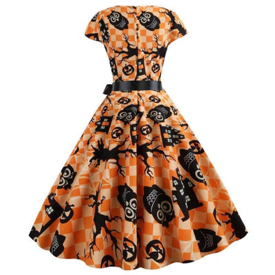 Robe Pin Up Orange | Éternel Vintage