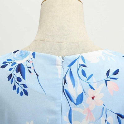 Robe Rétro Pin Up Bleu | Éternel Vintage