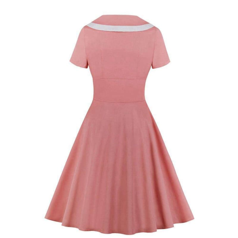 Robe Rétro Vintage Chic Rose