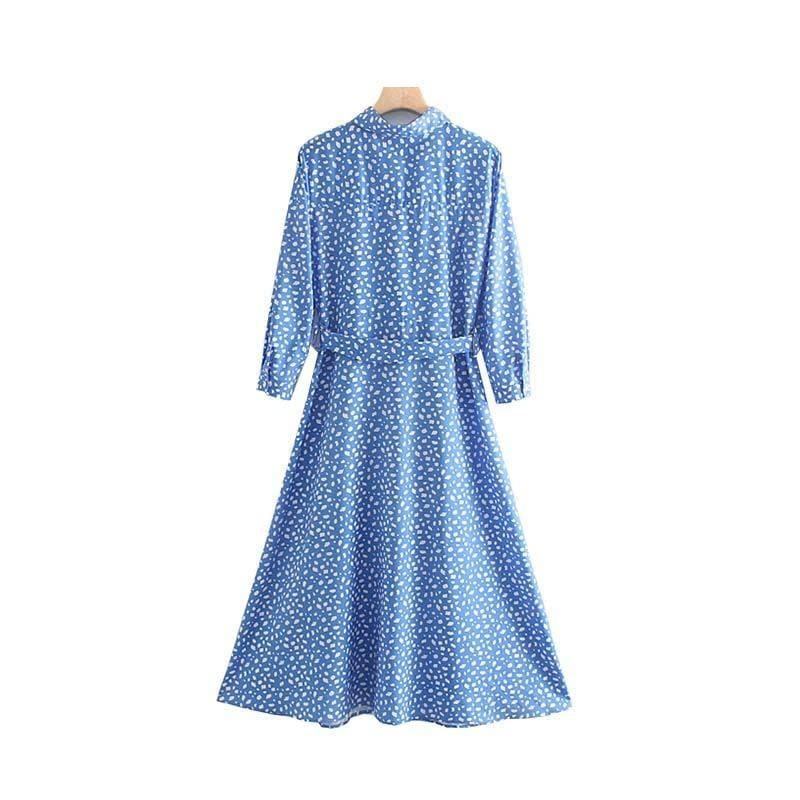 Robe Vintage Bleu Love