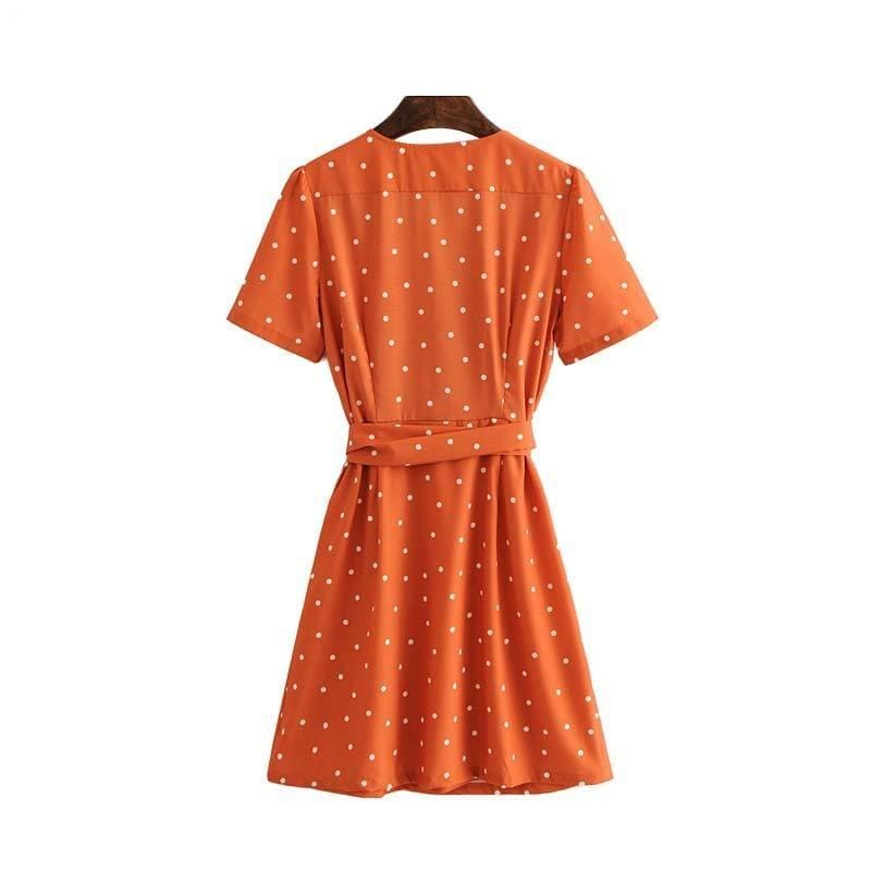 Robe Vintage Orange | Éternel Vintage