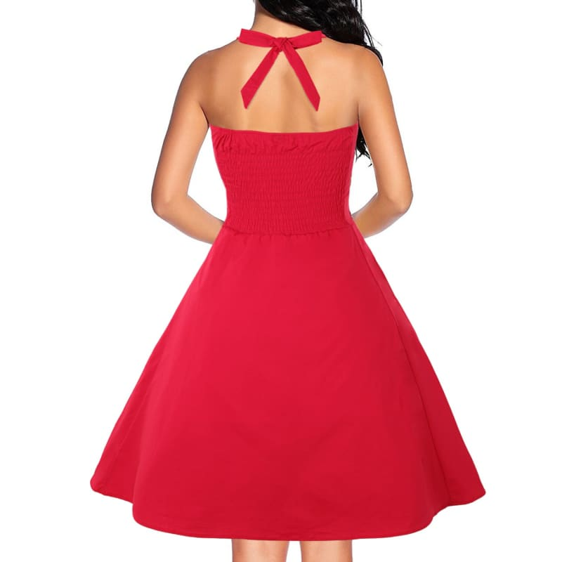 Robe Vintage Rockabilly Rouge