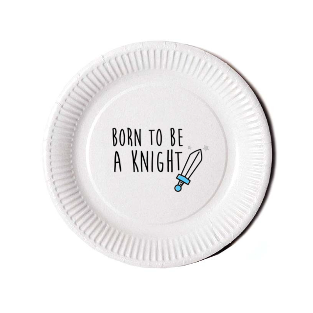 Assiette KNIGHT Blue (pack 10 pces) - I'm Born To Be