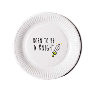 Assiette KNIGHT Green (pack 10 pces) - I'm Born To Be
