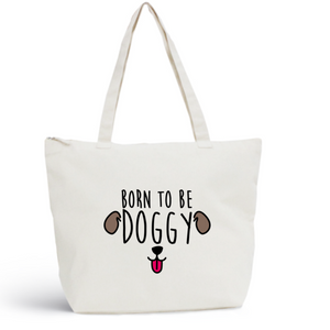 Sac de plage DOGGY Coton BIO 🍀 - I'm Born To Be