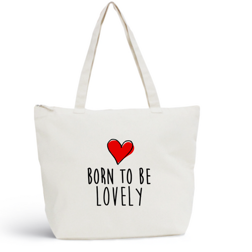Sac de plage LOVELY Coton BIO 🍀 - I'm Born To Be
