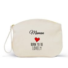 Charger l'image dans la galerie, Trousse Femme LOVELY Coton BIO 🍀 - I'm Born To Be