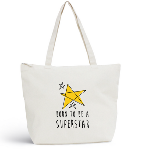 Sac de plage SUPERSTAR Coton BIO 🍀 - I'm Born To Be