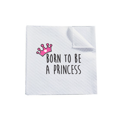 Serviettes papier PRINCESS Pink (pack 10 pces) - I'm Born To Be