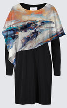 Load image into Gallery viewer, Long Sleeve Cape Dress