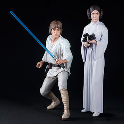 Star Wars Luke Skywalker Princess Leia ArtFX+ Statue