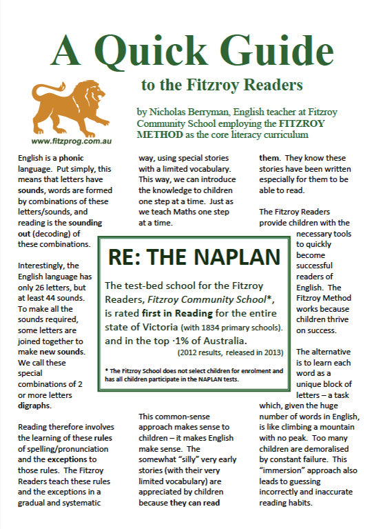 The quick guide to the Fitzroy Readers