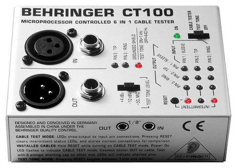 Behringer CT100 Cable Tester - Audiofeen