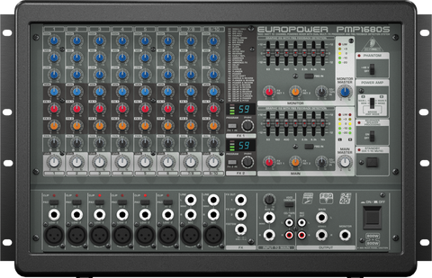Behringer EUROPOWER PMP1680S - 10-Channel Powered Mixer - Audiofeen