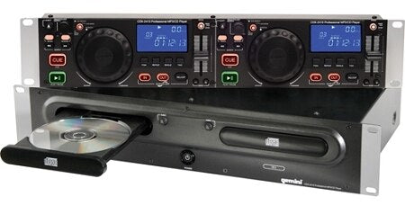 Gemini CDX-2410 2U Rackmount Dual MP3-CD Player - B-Stock - Audiofeen