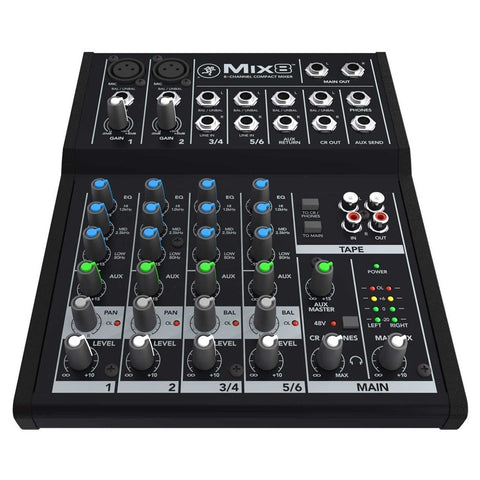 Mackie Mix8 8-Channel Compact Mixer - Audiofeen