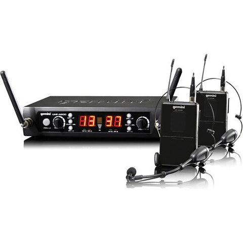 Gemini UHF-4200HL Wireless Microphone System - Audiofeen