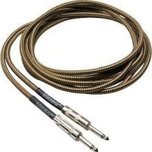 Hosa GTR-518 Tweed Guitar Cable - Straight to Same - Audiofeen