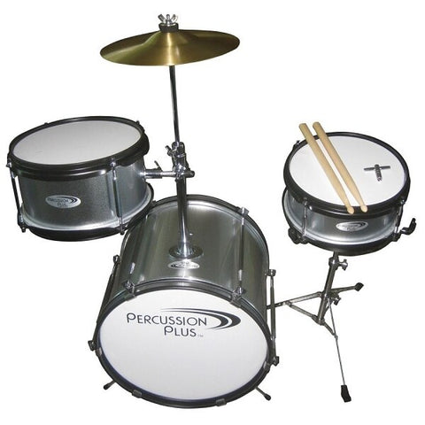 Percussion Plus 3-Piece Mini Drum Set - Silver - Audiofeen