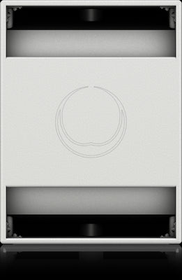 Turbosound NuQ118B-AN-WH Powered 3000 Watt 18'' Front Loaded Subwoofer with KLARK TEKNIK DSP Technology and ULTRANET Networking (White) - Audiofeen
