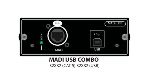 Soundcraft 32CH MADI + 32CH USB Si Option card for simaltaneous Stagebox and Record - Audiofeen