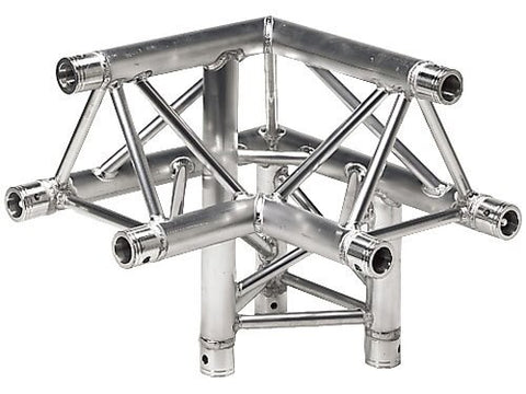 Global Truss TR-4093-UR - 1.64ft. (0.5m) 3-Way 90 Degree Corner - Audiofeen