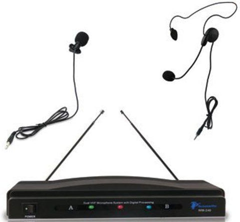 Technical Pro WM240 Professional Wireless Microphone System - Audiofeen