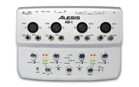 Alesis iO4 4-Channel, 24-Bit Recording Interface - Audiofeen