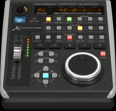Behringer Universal Control Surface with Touch-Sensitive Motor Fader and LCD Scribble Strip - Audiofeen