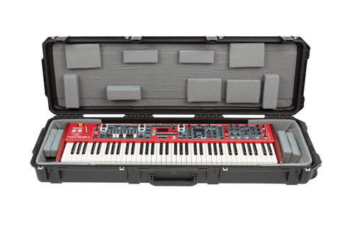 "SKB 3i-5014-TKBD - iSeries 76-Note Keyboard Case - w-Think Tank Interior: 47.5"" x 13.5"" x 4.25"" - Audiofeen"