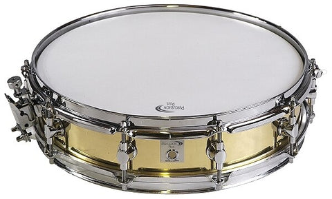 "Percussion Plus Snare Drum - 3.5 x 14"", Brass, 10 Lugs"" - Audiofeen"
