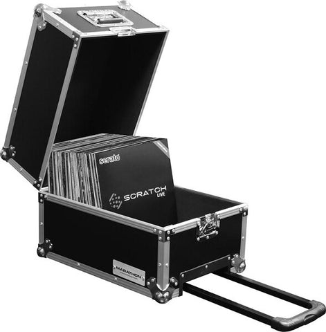 Marathon MA-LPHWE Flight Road 100 Capacity Medium-duty LP Case with Wheels - Audiofeen