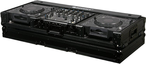 "Odyssey FZ12CDJWBL DJ Coffin W-WHEELS FOR 2 LARGE FORMAT CD-DIGITAL MEDIA PLAYERS AND A 12"" FORMAT DJ MIXER - Audiofeen"